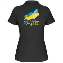 Женская футболка поло Ukrainian Wolf - FatLine