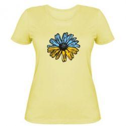 Женская футболка Українська квітка - FatLine