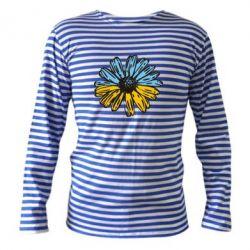 Тельняшка с длинным рукавом Українська квітка - FatLine