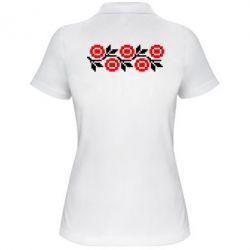 Женская футболка поло Українська вишивка