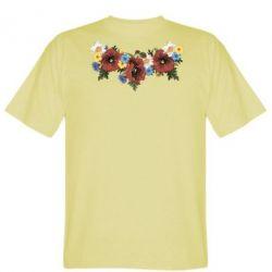 Мужская футболка Украинские цветы - FatLine