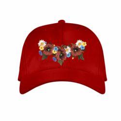Детская кепка Украинские цветы - FatLine