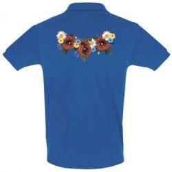 Футболка Поло Украинские цветы - FatLine