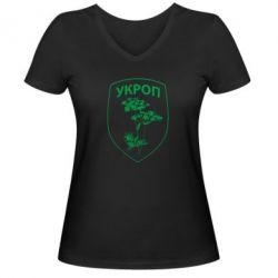 Женская футболка с V-образным вырезом Укроп Light - FatLine