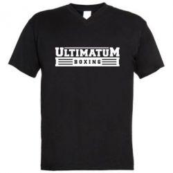 Мужская футболка  с V-образным вырезом Ultimatum Boxing - FatLine