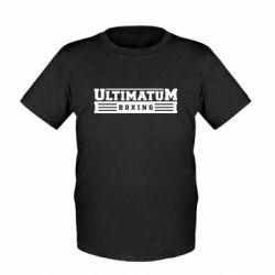 Детская футболка Ultimatum Boxing - FatLine
