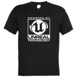 Мужская футболка  с V-образным вырезом Unreal - FatLine