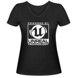 Женская футболка с V-образным вырезом Unreal - FatLine