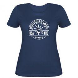 Женская футболка USA NYC - FatLine