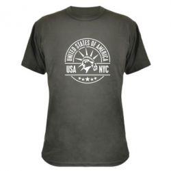 Камуфляжная футболка USA NYC - FatLine