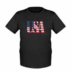 Детская футболка USA - FatLine