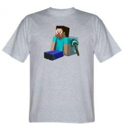 Мужская футболка Уставший Стив - FatLine