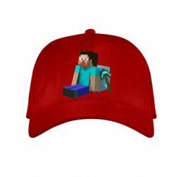 Детская кепка Уставший Стив - FatLine