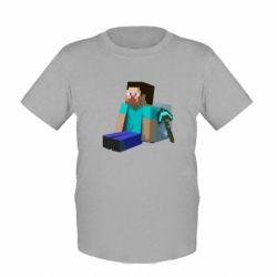 Детская футболка Уставший Стив - FatLine