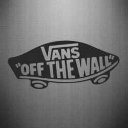 Наклейка Vans of the walll Logo - FatLine