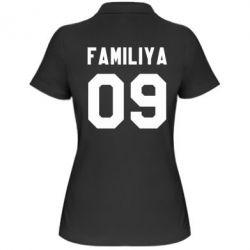 Женская футболка поло Ваша фамилия и номер - FatLine
