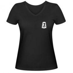 Женская футболка с V-образным вырезом ВАЗ - FatLine
