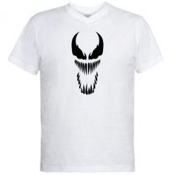 Мужская футболка  с V-образным вырезом Веном Силуэт - FatLine