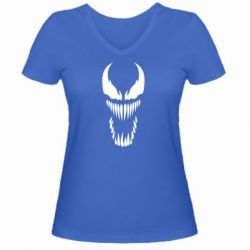 Женская футболка с V-образным вырезом Веном Силуэт - FatLine