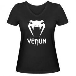 Женская футболка с V-образным вырезом Venum2 - FatLine