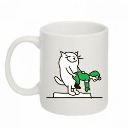 Кружка 320ml Вежливый кот - FatLine
