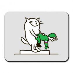 Коврик для мыши Вежливый кот - FatLine
