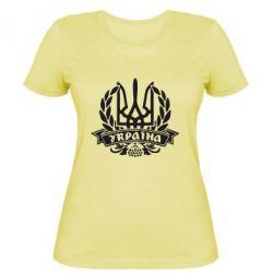 Женская футболка Вінок з гербом - FatLine