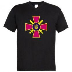 Мужская футболка  с V-образным вырезом Військо України - FatLine