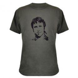 Камуфляжная футболка Владимир Высоцкий портрет