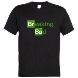 Мужская футболка  с V-образным вырезом Во все тяжкие (Breaking Bad) - FatLine