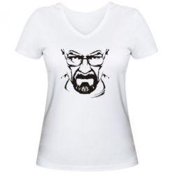 Женская футболка с V-образным вырезом Во все тяжкие (Уолтер) - FatLine