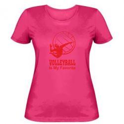 Женская футболка Волейбол Is my favorite