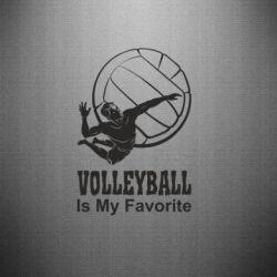Наклейка Волейбол Is my favorite