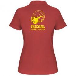 Женская футболка поло Волейбол Is my favorite