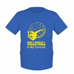Детская футболка Волейбол Is my favorite