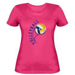 Женская футболка Волейбол