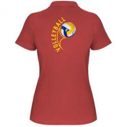 Женская футболка поло Волейбол