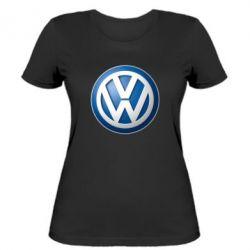 Женская футболка Volkswagen 3D Logo - FatLine