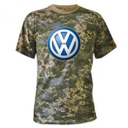 Камуфляжная футболка Volkswagen 3D Logo - FatLine