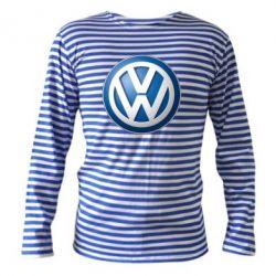 Тельняшка с длинным рукавом Volkswagen 3D Logo - FatLine
