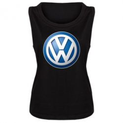 Женская майка Volkswagen 3D Logo - FatLine
