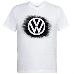 Мужская футболка  с V-образным вырезом Volkswagen art