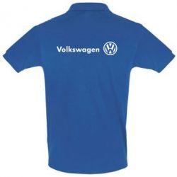 Футболка Поло Volkswagen лого - FatLine