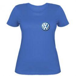 Женская футболка Volkswagen Small Logo - FatLine