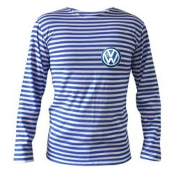 Тельняшка с длинным рукавом Volkswagen Small Logo - FatLine
