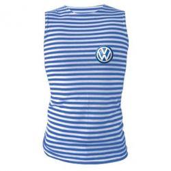 Майка-тельняшка Volkswagen Small Logo - FatLine