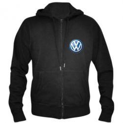 Мужская толстовка на молнии Volkswagen Small Logo - FatLine