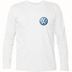 Футболка с длинным рукавом Volkswagen Small Logo - FatLine