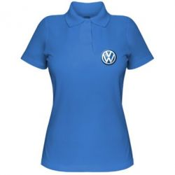 Женская футболка поло Volkswagen Small Logo - FatLine