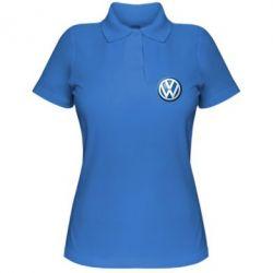 Жіноча футболка поло Volkswagen Small Logo